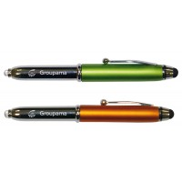 STYLO STYLET AVEC LED COLORADO PANACHE ORANGE/VERT (LOT DE 10 PCS)