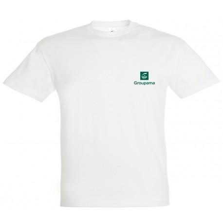 T-shirt coton blanc GROUPAMA