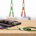 FUN ZIP Câble USB double embout VERT CLAIR